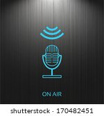 on air  sign  microphone icon...