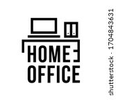 home office icon  plate ...   Shutterstock .eps vector #1704843631