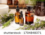 Herbal Essential Oil On Vintage ...