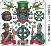 alcohol,and,art,beer,bird,blue,bones,cauldron,celebration,celtic,clover,coin,colored,cross,culture