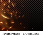 vector realistic isolated fire...   Shutterstock .eps vector #1704860851