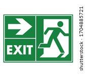 emergency exit door vector....   Shutterstock .eps vector #1704885721
