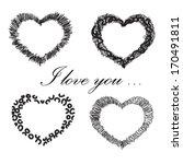 happy valentine's day card.... | Shutterstock .eps vector #170491811