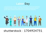 labor day a group of people of... | Shutterstock . vector #1704924751