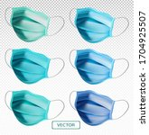 3d realistic protective medical ... | Shutterstock .eps vector #1704925507