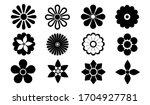 april 5  2020  black flower... | Shutterstock .eps vector #1704927781