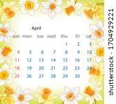 2021  April Calendar  Decorated ...