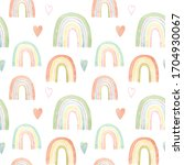 seamless pattern with cute...   Shutterstock . vector #1704930067