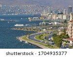 Small photo of IZMIR - SEPTEMBER 16: A view from Konak, izmir. izmir is the third most populous city in Turkey. in September 16, 2013 in Izmir, Turkey.