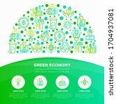 green economy concept in half... | Shutterstock .eps vector #1704937081