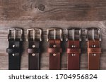 Leather belts in different...