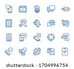 set of message vector line... | Shutterstock .eps vector #1704996754