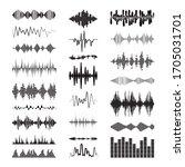 black sound waves logo... | Shutterstock .eps vector #1705031701