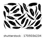 black paint brush leaves vector ... | Shutterstock .eps vector #1705036234