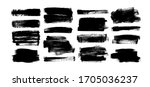 vector black paint  rectangular ... | Shutterstock .eps vector #1705036237