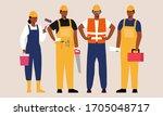 portrait of migrant workers.... | Shutterstock .eps vector #1705048717