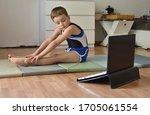 Little Gymnast Boy Is Training...