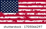 american flag with blood stains.... | Shutterstock . vector #1705066297