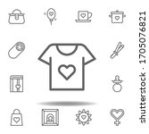mothers day shirt outline icon. ...