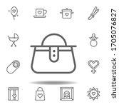 mothers day handbag outline...