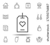 mothers day tag outline icon....
