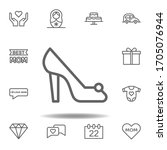 mothers day shoe outline icon....
