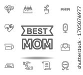 mothers day best mom outline...