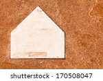 Home Plate On A Baseball Field...