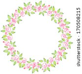 watercolor card with stylized... | Shutterstock . vector #170508215