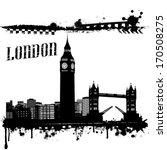 Grunge London Cityscape...