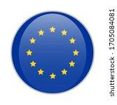 european union blue round badge ...   Shutterstock .eps vector #1705084081