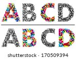 colorful and monochrome... | Shutterstock . vector #170509394