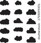 clouds silhouettes. vector set... | Shutterstock .eps vector #1705095451