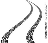 tire prints   illustration | Shutterstock . vector #170510267