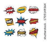 cartoon comic sign burst clouds.... | Shutterstock .eps vector #1705149364