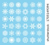 Set Of Snowflakes  Vector...