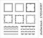 vintage calligraphic frames.... | Shutterstock .eps vector #1705149397