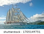Sailing Yacht Under The Sails....