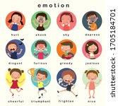 variety of emotions children ...   Shutterstock .eps vector #1705184701