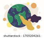 flat style illustration vector... | Shutterstock .eps vector #1705204261