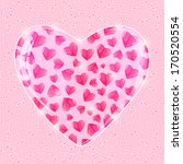 valentines day shiny pink ... | Shutterstock .eps vector #170520554