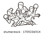 group of ping pong players ... | Shutterstock .eps vector #1705236514