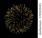 Firework Gold Isolated....