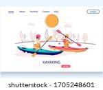 kayaking vector website...   Shutterstock .eps vector #1705248601