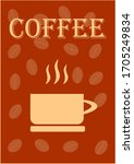 template for text for coffee...   Shutterstock .eps vector #1705249834