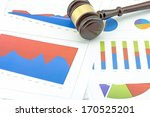 financial chart  | Shutterstock . vector #170525201