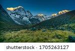 Sunrise On Annapurna Range Of...