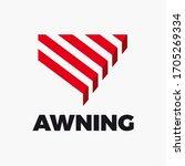 awning logo design. vector... | Shutterstock .eps vector #1705269334