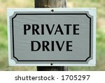 Private Drive Sign Telling...