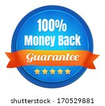 money back guarantee badge | Shutterstock .eps vector #170529881